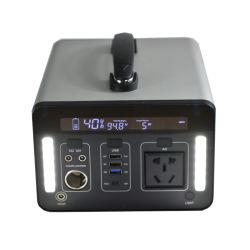 12V 500W 1000W UPS de bateria portátil multifuncional de alimentação de emergência com bateria de iões de lítio recarregável lanterna LED