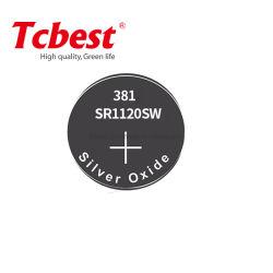Batteria a bottone Sr1120 argento ossido Sr1120sw 381 Sr1120 /381 / Lr1120 batterie micro all'ossido di argento per orologi