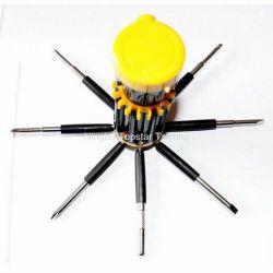 8-in-1 multifunctionele schroevendraaier Flat en Phillips Schroevendraaier Mini zakschroevendraaier met zaklamp
