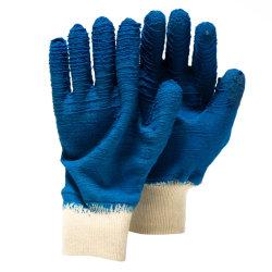 Il lattice pieno della piega di alta qualità ha ricoperto lavoro di sicurezza dell'en 388 della pinsa dei guanti del lavoro della fodera del cotone il buon
