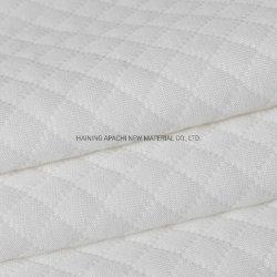 White Argyle Fabric para colchão macio (08)