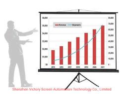 Suporte tripé portátil os ecrãs de projecção de tela do projetor Projetor Tripé Educação 70 80 polegada