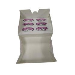 Blanco y rosa de papel cartón caja de cartón reciclado para el pan con pan de la decoración interior