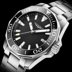 Automatische Horloge van de Luxe van de Saffier van het Roestvrij staal van het Polshorloge van het Embleem van Cusotm het Mechanische 316L Lichtgevende