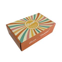 Kundenspezifische kleine Luxuxkosmetik aufbereiteter Farben-Drucken-Firmenzeichen-verpackender Papierkasten
