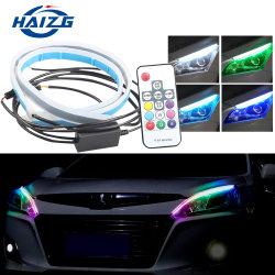 مصابيح نهارية مرنة LED بألوان مصابيح النهار LED بألوان جديدة ذات 12 فولت RGB 7 ألوان ضوء التشغيل