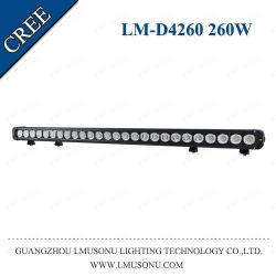 مصباح عمل Lmusonu LED مقاس 42.5 بوصة من التيار المستمر بجهد 10 إلى 30 فولت، أحادي قليل السمك مصابيح LED غامرة لموضع الصف أشرطة إضاءة LED 260 واط
