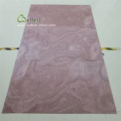 Китай природных Slate сжигание красный гибкий и Ультра тонкий камень шпона настенные панели из камня для монтажа на стену оформление