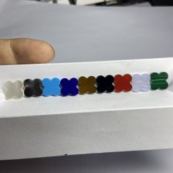 HQ Gems 13X13X2mm4 Leaf Clover Synthetic Lapis Lazuli Gmesotne 보석 만들기