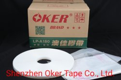 Oker Factory Direct Sales 18/6/8mm*10000m*CTN HDPE Double Sided Bag Sealing Tape voor OPP Bag, Office Stationery Tape, Self Adhesive