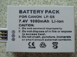 Remplacement batterie pour appareil photo numérique Canon LP-E5 (EOS 450D)