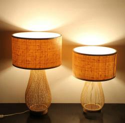 Оптовая торговля настольный светильник прикроватный монитор сбора плетеной лампы лампы для с одной спальней и гостиной управлением исследования