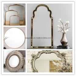 مرآة زجاجية واضحة/ملونة/على شكل حرف/فضي / مرآة LED / مرآة أمان / مرآة التصميم العتيقة / المرآة المنفجمة / مرآة السطح الأمامية