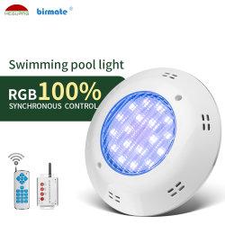 Protección IP68 25W Remoto RGB LED de bajo el Agua de Superficie de la Luz de la Piscina