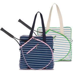 Sacchetto di volano del sacchetto delle racchette di tennis del cotone con il supporto smontabile della bottiglia di acqua della cinghia registrabile