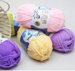 5 Plys Multi-Colored hilados, tejidos de hilados de algodón de seda de leche de bebé/ Acrílico hilos para tejer Crochet tejida a mano Hilos de algodón hilado acrílico