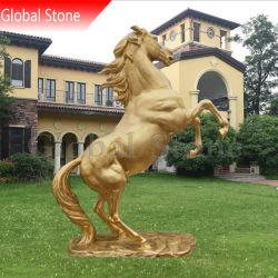 カスタマイズされた屋外の青銅色動物の彫像の実物大の跳躍の馬の彫刻の彫像(GSBR-224)