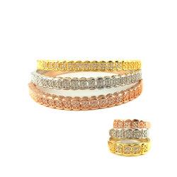 Petite orné de zircon Bangle Bracelet ou de la commande de stock de nouvelle conception de bijoux de mode de cuivre
