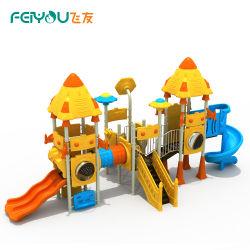 Feiyou cores ricas crianças parque infantil exterior de plástico equipamento de jogos com jardim deslize
