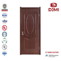 Melamina personalizadas portas de madeira simples Red porta embutida