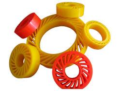 PUペーパーマシンのためのクラッシュの車輪無し、ポリウレタンペーパー出版物の車輪、PU日曜日の車輪