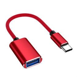 인조 인간 전화를 위한 자유로운 출하 OEM 연결관 OTG 데이터 Sync 책임 접합기 케이블 유형 C에서 USB
