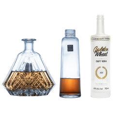 De Fles van de Alcoholische drank van het Glas van de Rum van de Jenever van de Brandewijn van de Wisky van de Wodka van de douane om de Duidelijke Fles van het Glas voor Verkoop