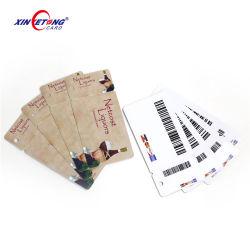 Taille non standard 3-touche haut Tags Code à barres en plastique PVC carte de fidélité