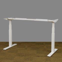 Möbel zerteilen die zwei Bewegungselektrische Höhen-justierbaren hölzernen Büro-Computer-Schreibtisch