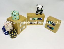Commerce de gros de bambou Soft gaufré de pâte de papier toilette Jumbo Rouleau de papier