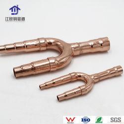 Réfrigération tuyau de Direction générale de la disperser Y-Fittiing partie climatiseur de cuivre