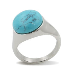 Moda Gemstone Personalizado do anel de jóias em Aço Inoxidável Personalizada