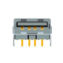 Потребительские электронные разъем USB версии 2.0 типа женщина Receptable кабель/аудио разъем