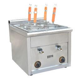 Fornello elettrico commerciale della pasta della tagliatella della polpetta dei ravioli dei 2 cestini del piano d'appoggio di uso 220V