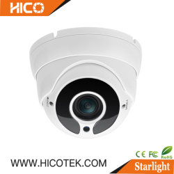 Hicotek Long Range dôme étanche Exir Starvis plein de lumière LED intelligent IP CCTV couleur Ahd af Caméra avec objectif varifocale