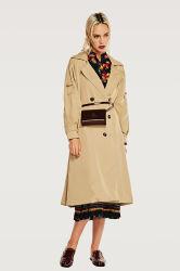 女性熱い販売の方法長い風のコート