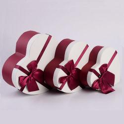 Hochzeits-Bevorzugungs-Kasten-Inner-Form-Geschenk-Kasten mit Farbband-Gleichheit