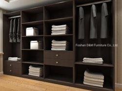 La mobilia di legno domestica moderna ad alto livello della camera da letto copre il guardaroba di memoria (DM2020)