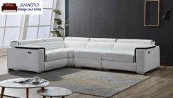 2019 Electric Sala sofá de grãos superior sofá de couro sofá moderno SOFA LAZER Sala Escura de reclinação eléctrica Sofá