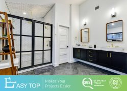 Ficha preta de plástico de PVC de parede simples banho impermeável banheiro armário com espelho de cortesia