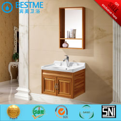 Foshan Fabricação de mobiliário de casa de banho privada vaidades material PVC Jr-74