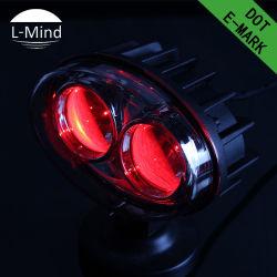 Commerce de gros prix d'usine 10-60V Chariot élévateur à fourche LED de laser le témoin 6W Tenir hors de la sécurité d'avertissement Spot Light 4.5inch phare de travail à LED