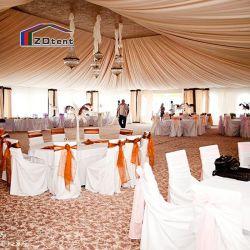 Bastidor de aluminio de 300 personas de la boda de blanco con forro de lona y de cortina