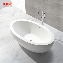 Vasca di bagno di pietra su ordine di superficie solida degli articoli sanitari moderni della stanza da bagno