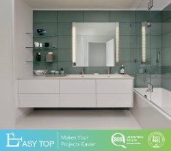 Un estilo moderno cuarto de baño MDF baño doble tocador con vidrio templado