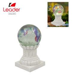 Смола Best-Seller Стеклянный шарик Gazing на солнечной энергии для освещения сада, светлых тонах солнечной энергии