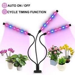 自動タイミングの赤い青LEDは3つのヘッドLEDのプラントが360degree適用範囲が広い首が付いている棒ライトを育てるライト36W三倍を育てる