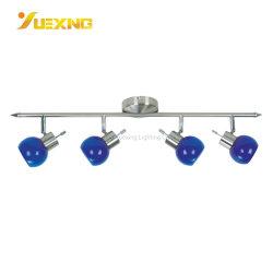 4*G9 для использования внутри помещений лампа для управления оформлением освещения в помещении супермаркет управление линейных стекло синего цвета металла потолочный светильник акцентного освещения