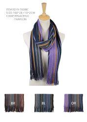 反Saticのアクリルのスカーフによって編まれるスカーフの方法冬のスカーフ