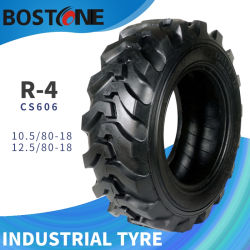 R4新しいバイアスナイロンSkidsteerのタイヤの産業バックホウのローダーのタイヤ10.5 12.5/80-18,16.9-28,16.9-24,19.5L-24,17.5L-24,21L-24,18.4-26,10-16.5、12-16.5、14-17.5、15-19.5